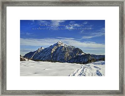 Christmas In Austria Europe Framed Print by Sabine Jacobs
