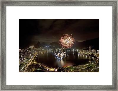 Christmas In Rio 2 Framed Print by Sergio Bondioni