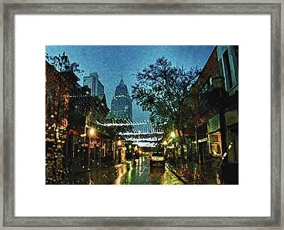 Christmas Lights Down Dauphin Street Framed Print by Michael Thomas