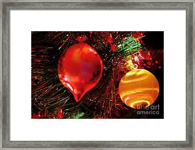 Christmas Ornament Decoration Framed Print by Carol F Austin