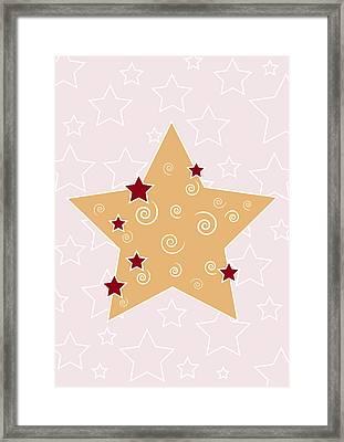 Christmas Star Framed Print by Frank Tschakert