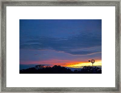 Christmas Sunset Framed Print by Robert Anschutz