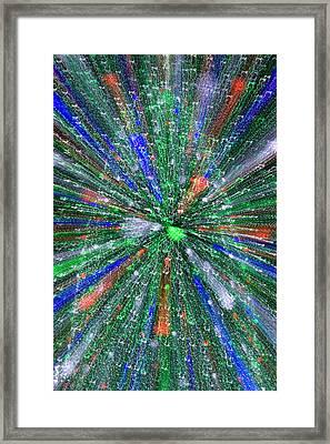 Christmas Tree Abstract-i Framed Print by Dennis Tarnay Jr
