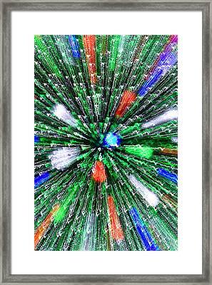 Christmas Tree Abstract-iii Framed Print by Dennis Tarnay Jr