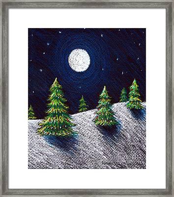 Christmas Trees II Framed Print by Nancy Mueller