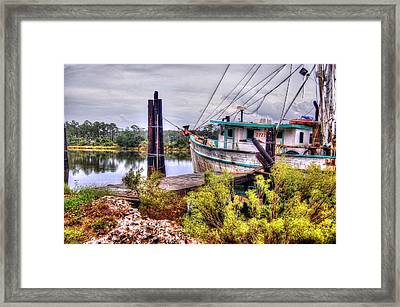 Christy Lynn At Harbor Framed Print by Michael Thomas