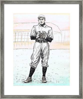 Christy Mathewson Framed Print by Mel Thompson