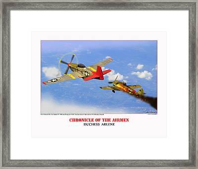 Chronicle Of The Airmen Duchess Arlene Framed Print by Jerry Taliaferro