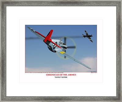 Chronicles Of The Airmen Lucky Lester Framed Print by Jerry Taliaferro