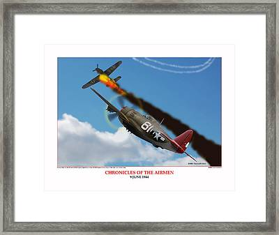 Chronicles Of The Airmen Nine June Framed Print by Jerry Taliaferro