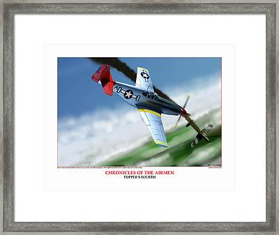 Chronicles Of The Airmen Toppers Fourth Framed Print by Jerry Taliaferro