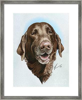 Chubbs Framed Print by Marshall Robinson