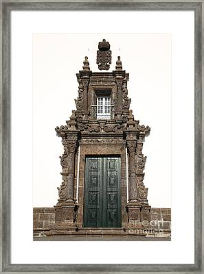 Church Door Framed Print by Gaspar Avila