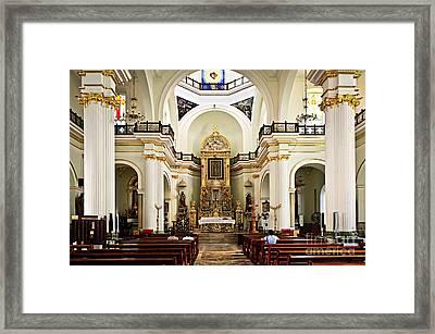 Church Interior In Puerto Vallarta Framed Print by Elena Elisseeva