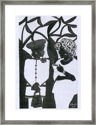 Church Ladies Framed Print by Rhetta Hughes