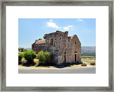 Church Of Ayios Georgios. Framed Print by Fernando Barozza