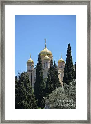 Church Of Gornensky Convent 2 Framed Print by Moshe Moshkovitz