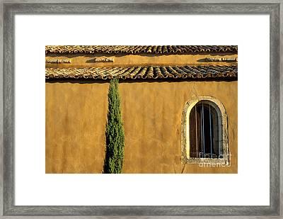 Church. Provence Framed Print by Bernard Jaubert