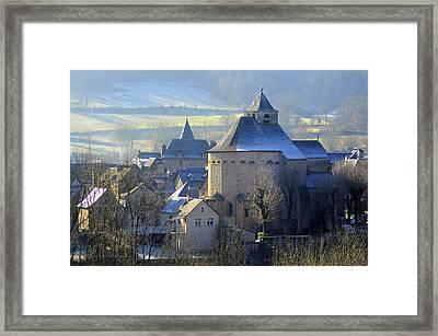 Church, Sainte Eulalie D'olt Framed Print by Copyrights by Sigfrid López