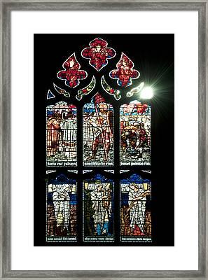 Church Window I Framed Print by Svetlana Sewell