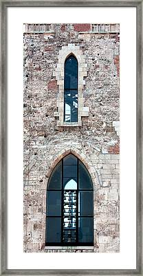 Church Windows Framed Print by Shirley Mitchell