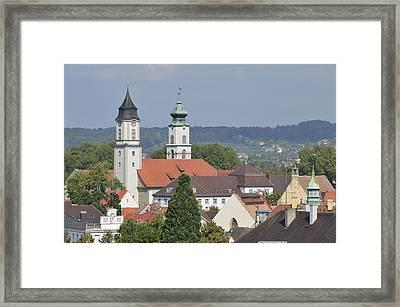 Churches In Lindau Germany Framed Print by Matthias Hauser