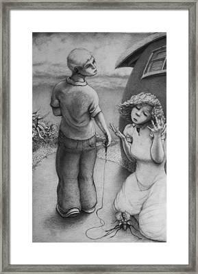 Cicada Framed Print by Louis Gleason