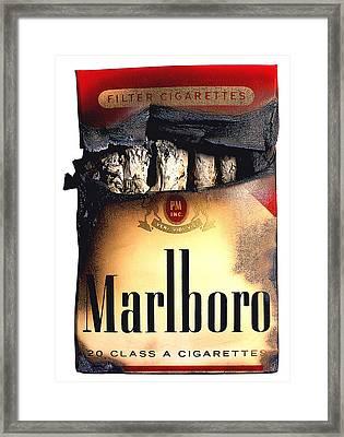 Cigarette Skeleton Framed Print by Michael Kraus