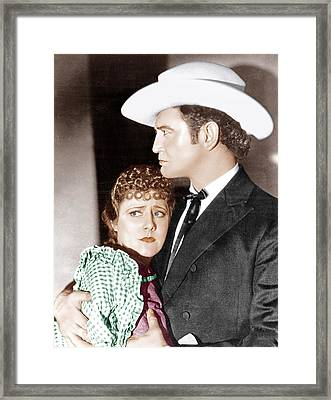 Cimarron, From Left Irene Dunne Framed Print by Everett