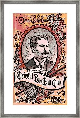 Cincinnati Baseball Framed Print by George Pedro