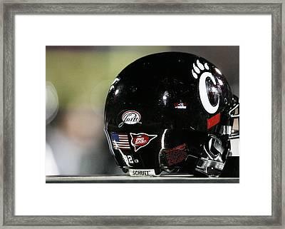 Cincinnati Bearcats Football Helmet Framed Print by University of Cincinnati