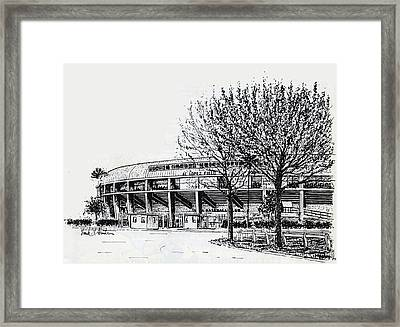 Cincinnati Reds/al Lopez Stadium Tampa Florida Framed Print by Frank Hunter