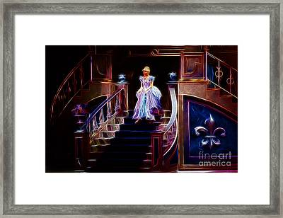 Cinderella Enters The Ball Framed Print by Darleen Stry