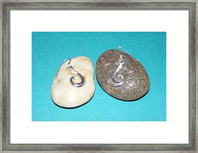 Circle Hook Earrings Framed Print by Carey Chen