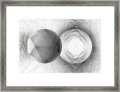 Circle Potential Framed Print by David Kleinsasser