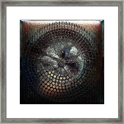 Circle1975-enhanced-black Framed Print by Li   van Saathoff