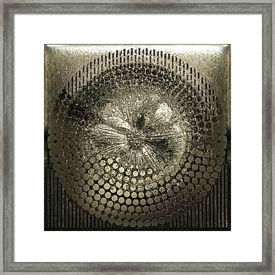 Circle1975-enhanced-champagne Framed Print by Li   van Saathoff