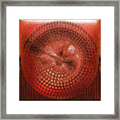 Circle1975-enhanced-red Framed Print by Li   van Saathoff