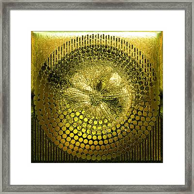 Circle1975-enhanced-yellow Framed Print by Li   van Saathoff