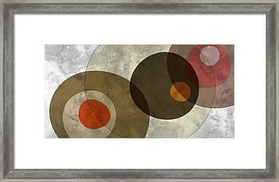 Circled Tones Framed Print by Nomi Elboim