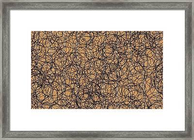 Circles Framed Print by Katina Cote