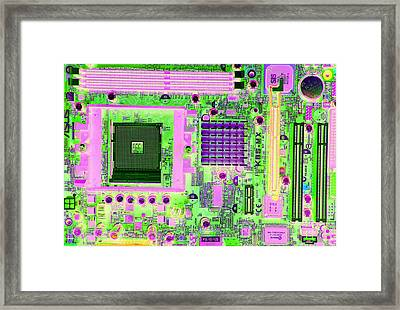 Circuit Board Framed Print by Victor De Schwanberg