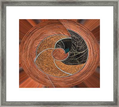 Circular Koin Framed Print by Jean Noren