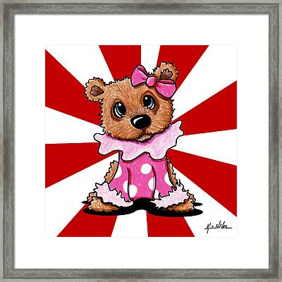 Circus Bear Cutie Framed Print by Kim Niles
