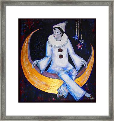 Cirque De La Lune Framed Print by Barbara Jean Lloyd