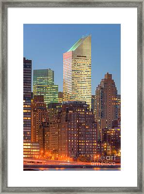 Citigroup Building At Twilight I Framed Print by Clarence Holmes
