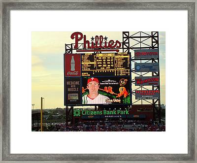 Citizens Bank Park 2 Framed Print by See Me Beautiful Photography