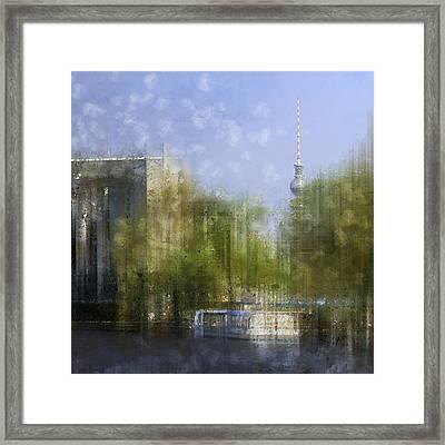City-art Berlin River Spree Framed Print by Melanie Viola