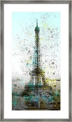 City-art Paris Eiffel Tower II Framed Print by Melanie Viola