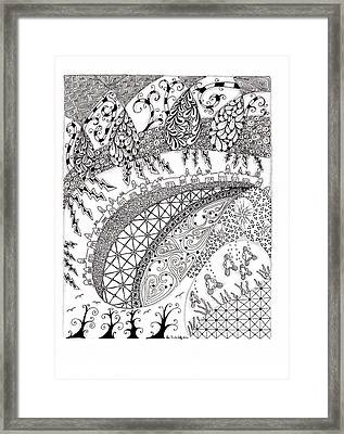 City Country And The Sea Framed Print by Paula Dickerhoff